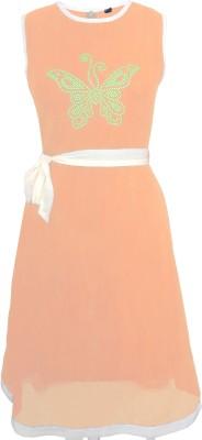 Sagi Women's Fit and Flare Beige Dress