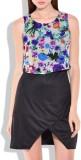 Vonvivo Women's High Low Blue Dress