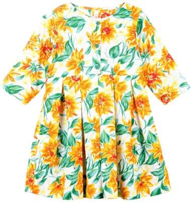 Oye Girl's Gathered Multicolor Dress