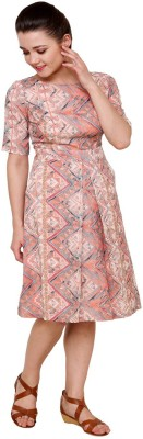 AT BY TARUNA Women's A-line Pink Dress
