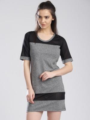 HRX by Hrithik Roshan Women's Jersey Grey Dress