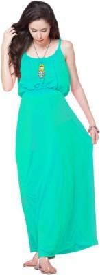 Mamacouture Women's Maxi Light Green Dress