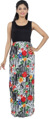 Diva Couture By Divvya Women's Maxi Black Dress