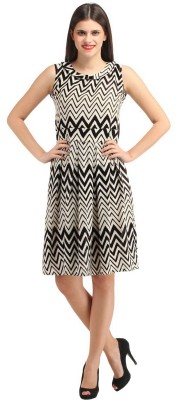 FashionVerb Women's A-line Beige Dress