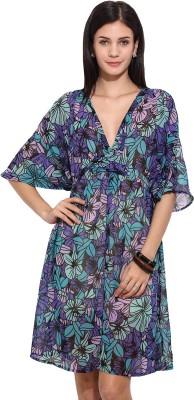 Trendy Divva Women's Empire Waist Blue Dress