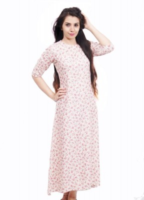 Fadjuice Women,s Maxi Pink Dress