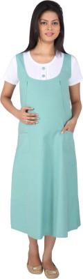 MomToBe Women's A-line Green Dress