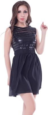 N-Gal Women's A-line Black Dress