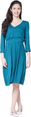 Mamacouture Women's A-line Green Dress