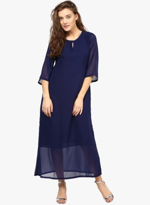 Cora Women's Maxi Blue Dress