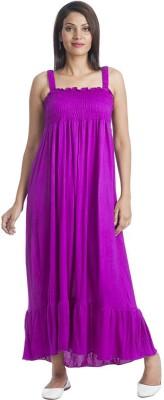 TeeMoods Women's Maxi Purple Dress