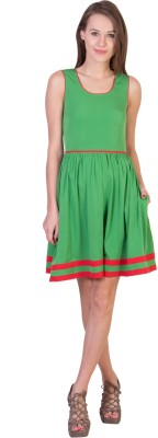 Tops and Tunics Women's Fit and Flare Green Dress