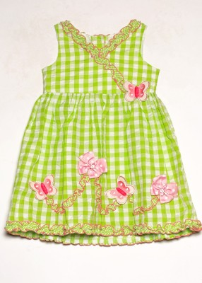 Bonnie Jean Girl's Gathered Light Green Dress