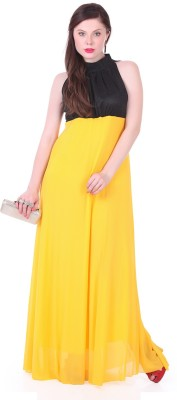 1 For Me Women,s Gathered Yellow Dress
