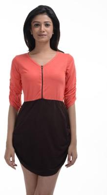 No Code Women's Shift Orange Dress