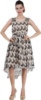 Pret a Porter Women's Fit and Flare Beige Dress