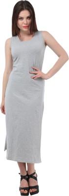 MEET NEX Women's Maxi Grey Dress