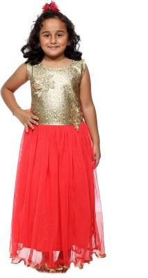 My Lil Princess Girl's Layered Red Dress