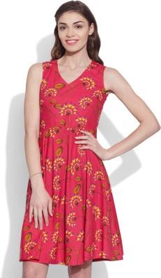 Very Me Women's A-line Pink Dress