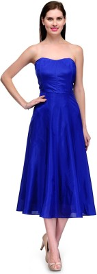 Xoxo Women's Fit and Flare Blue Dress