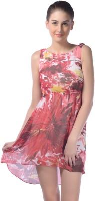 Trendy Divva Women's Empire Waist Pink Dress