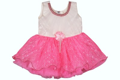 Ole Baby Girl's A-line Pink Dress