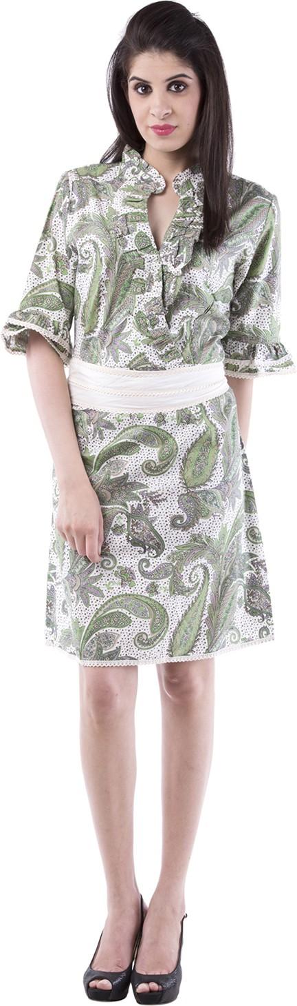 Aarr Womens A-line Green Dress