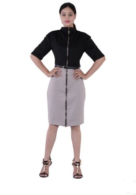 Fashnopolism Women's A-line Brown Dress