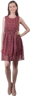 Sei Bello Women's Gathered Maroon Dress