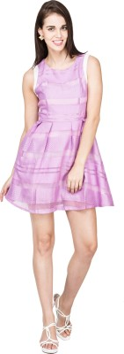 UberPlush Women's A-line Pink Dress
