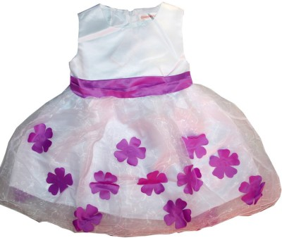 Kidsmasthi Girl,s Fit and Flare White Dress