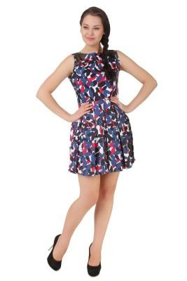 Silk Weavers Women,s A-line Multicolor Dress