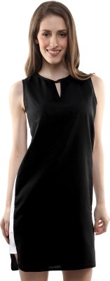 Miss Chase Women's A-line Black Dress