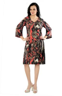 Aatmik Womens A-line Multicolor Dress