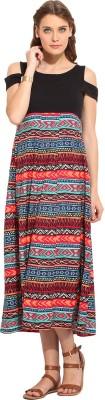 Rena Love Women's Maxi Multicolor Dress