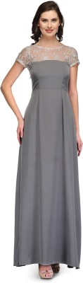 Raas Prêt Women's A-line Grey, Silver Dress