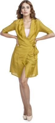 Urban Rust Women's Wrap Green Dress
