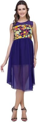 IshinDesignerStudio Women's Layered Blue Dress