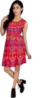 Jhoomar Women's A-line Multicolor Dress
