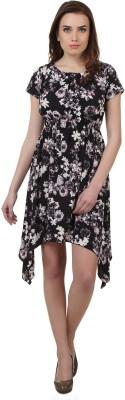 Cherymoya Women,s A-line Black Dress