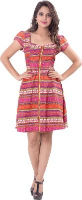 Simplona beau Women's A-line Orange Dress