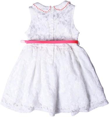 ShopperTree Girl's Peplum White Dress