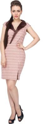 Vodka Fashion India Women's Sheath Brown Dress