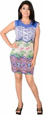 Kamakshi Krafts Women's A-line Multicolor Dress
