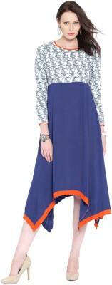 Anouk Women's A-line Blue Dress at flipkart