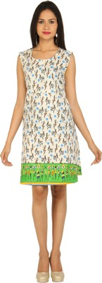 ARKES Womens A-line Multicolor Dress