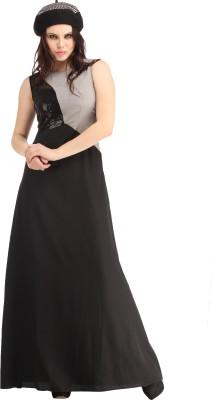 Raas Prêt Women's A-line Black, Grey Dress