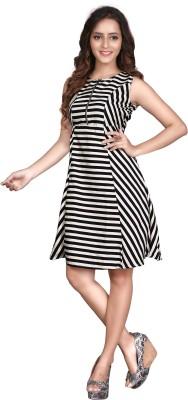 Viva N Diva Women's A-line Black Dress