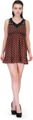 Forever Women's A-line Brown, Black Dress