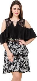 Texco Women's Layered Black, White Dress